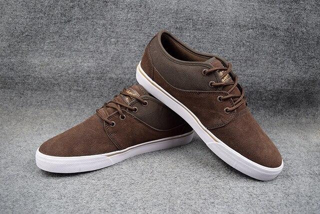 2016 GLOBE MAHALO Hard-Wearing Boys Shoes Black/Tobacco Gum Anti-Fur Street Men Footwear Size5-11 Available
