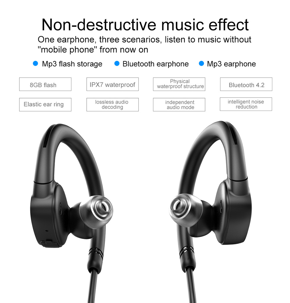 Fashion Ovevo X9 Sport Bluetooth Headset Waterproof Stereo Earphone 8g Memory Mp3 Function Calls Handsfree Swimming Earphones Bluetooth Earphones Headphones Aliexpress