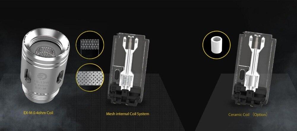 , electronic cigarette Joyetech Exceed Grip Starter Kit 1000mAh 20W 4.5ml/3.5ml 0.4ohm EX-M/0.8ohm Mesh Coil Vape Vaporizer Kit
