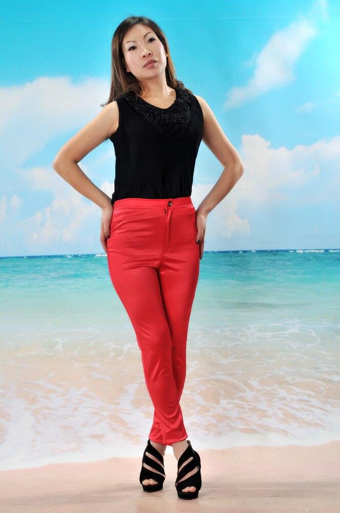 10 Farben Neue Frühlingsmode glänzend bunt dünn AA Disco Hosen - Damenbekleidung - Foto 3