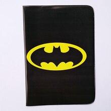 Cartoon Batman Passport Holder ID Card Holder 3D Design PVC Leather Business Card Bag Passport Cover 14*9.6CM