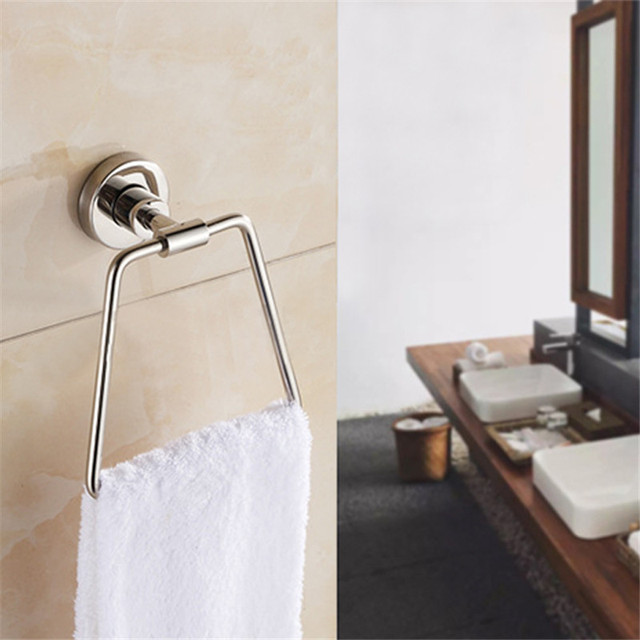 Bathroom Towel Ring Suction Cup Holder Wall Hanger Accessories