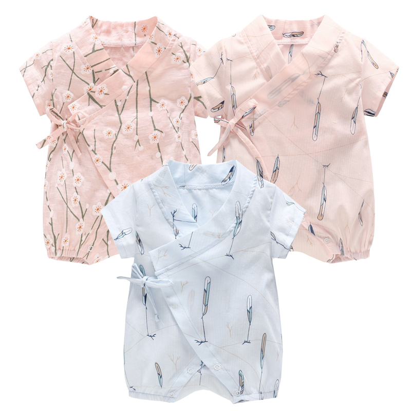 3453a0026 Summer Cotton Floral Kimono Style Baby Clothes Boys and Girls ...