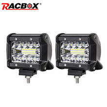 4 inch 60W LED Light Bar Flood Spot Combo Beam 12V 24V LED Driving Working Lamp Extra light for Truck 4WD ATV UTV Motorbike Boat