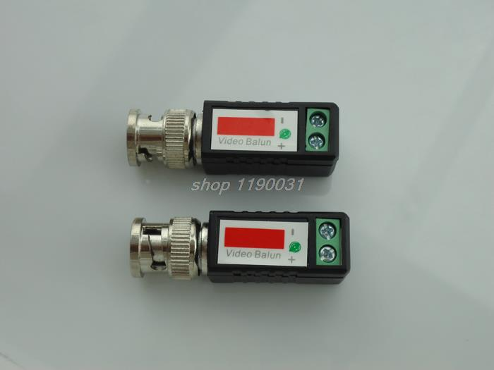 20piece CCTV video balun Twisted BNC Passive balun Transceiver BNC Male COAX CAT5 Camera UTP Cable Coaxial Adapter for IP Camera new cat 5e cat 6 cable utp stripper tool ideal for coax nib