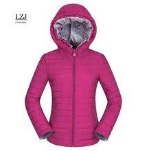 LZJ new 2017 women winter hooded warm coat slim plus size candy color cotton padded basic jacket female  jaqueta feminina jacket