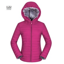 LZJ new 2017 women winter hooded warm coat slim plus size candy color cotton padded basic jacket female  jaqueta feminina jacket