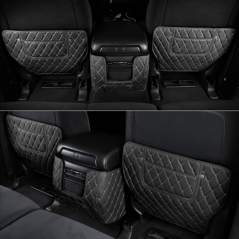 Car Styling 3pcs Leather Seat Back Anti Kick Mats For Nissan Patrol