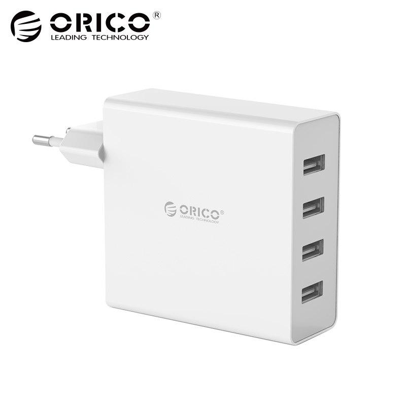 ORICO DCW-4U 4-Ports Mur USB Téléphone Chargeur 5V2. 4A * 4 6A30W Total Sortie Smart Puce de contrôle-Noir/blanc