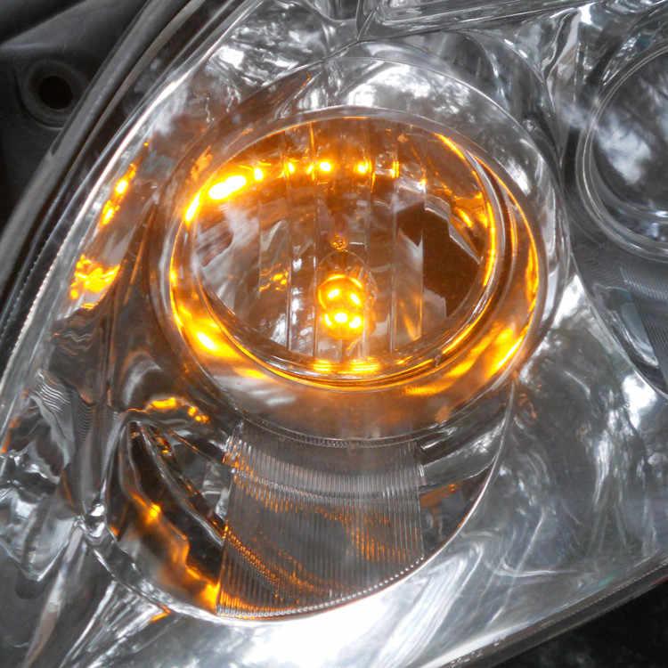 12 V Sarı Renk LED araba ampulü Lamba T10 (10mm projektör) w5W W2.1X9.5d Kapı Gövde Boot Lisans Okuma Işığı