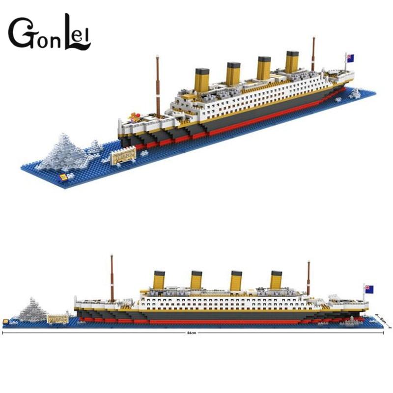 GonLeI RMS Titanic Ship 3D Building Blocks Toy Titanic Boat 3D Model Educational Gift Toy for Children ZB-G229