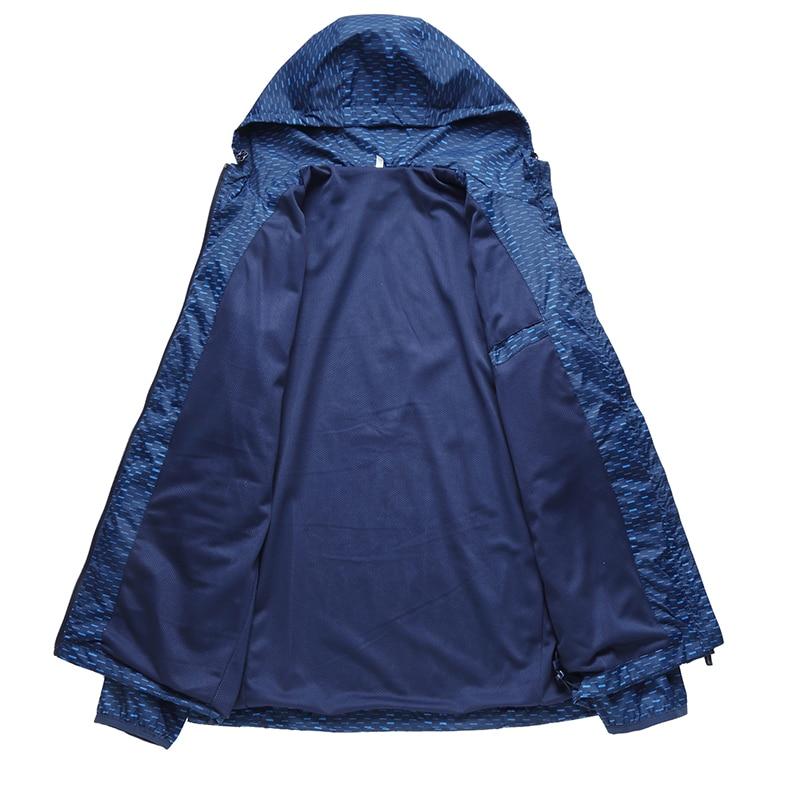 Куртка размера плюс 8XL 7XL 6XL 5XL 4XL, ветровка, мужские куртки, новинка 2019, весенне осенняя модная куртка, Мужская куртка с капюшоном - 3