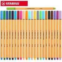 قلم ستابيلو 88 من الألياف 0.4 مللي متر قلم فني لإبرة رسم رفيع قلم جيل حبر متعدد الوظائف 25 قطعة -