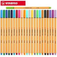 Ручка STABILO 88 волоконная 0,4 мм, тонкая игла для набросков, техническая ручка, многофункциональная гелевая ручка для чернил, маркер 25 шт., Германия