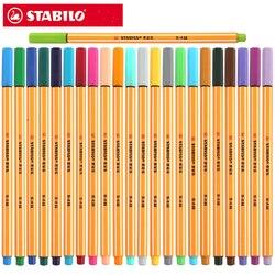 STABILO 88 fibra caneta 0.4 milímetros caneta multifuncional caneta gel caneta de tinta marcador esboço fino agulha técnica escolar paperlaria 25 pcs alemanha