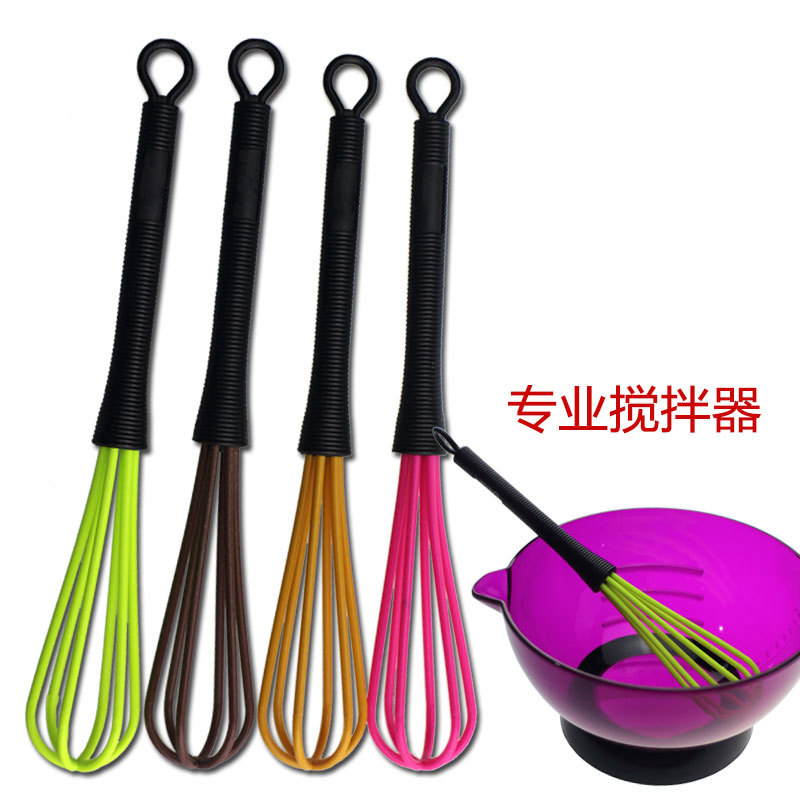 Professional Salon Hairdressing Dye Cream Whisk Plastic Hair Mixer Barber Stirrer Hair Care Styling Tools Blender