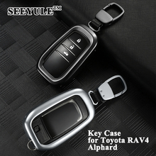 hot deal buy 1pc seeyule car key case cover with key chain shell protect key holder storage styling car accessories for toyota rav4 alphard
