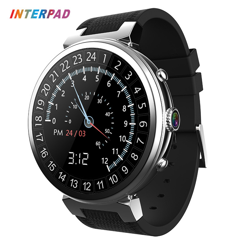 2018 Interpad I6 Smart Watch 3G GPS WIFI Android 5.1 MTK6580 Quad Core 1.3GHz 2GB 16GB Smartwatch Support SIM Card android 5 1 smartwatch x11 smart watch mtk6580 with pedometer camera 5 0m 3g wifi gps wifi positioning sos card movement watch