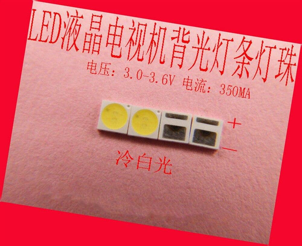 100piece/lot FOR Repair LCD TV LED Backlight Article Lamp SMD LEDs SMT AOT 3030 3V Cold White Light Emitting Diode