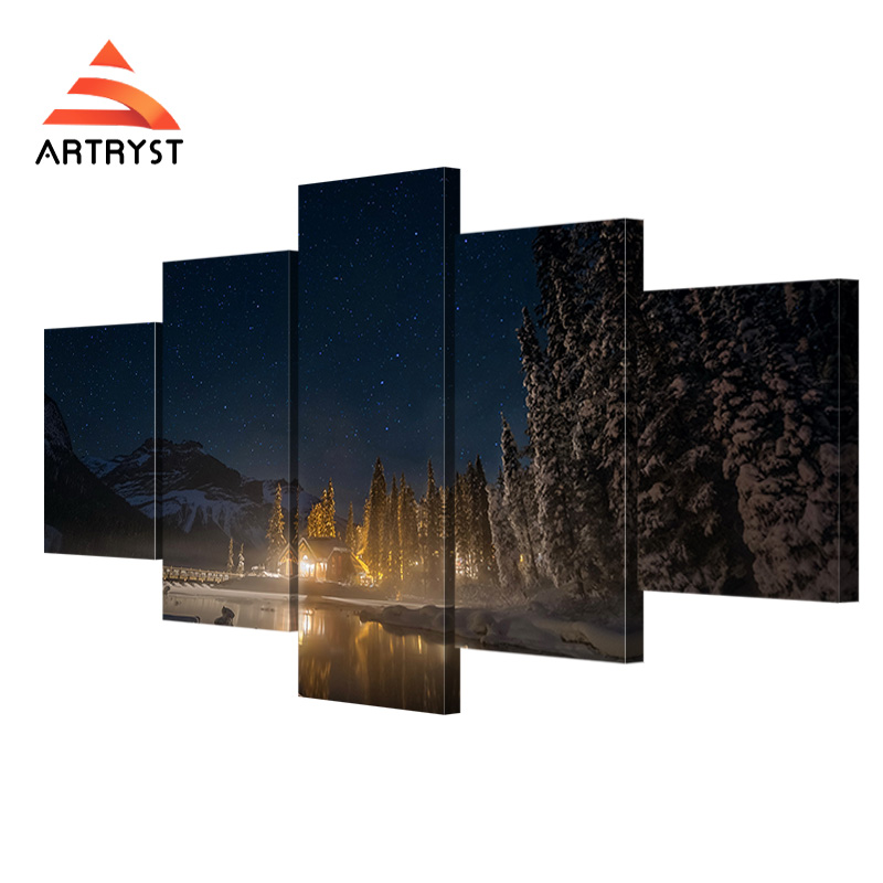 5 Panel Modular Canada Emerald Lake Night Natural Landscape HD Print On  Canvas Modern Home DecorCompare Prices on Canada Lake  Online Shopping Buy Low Price  . Modern Home Decor Stores Canada. Home Design Ideas