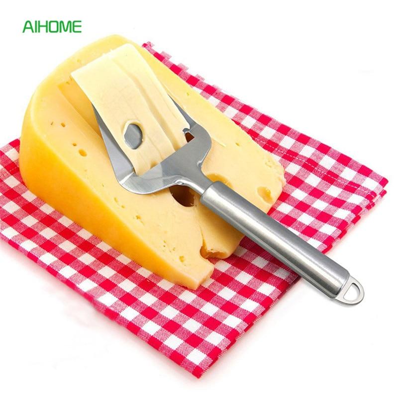 Антипригарный нож для сыра из нержавеющей стали, 1 шт., слайсер для сыра, резак для масла, плоская терка, кухонные инструменты для нарезки