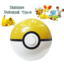 1pcs random ABS Pokeball + 1pcs Free Random Figures Inside Anime Pokeball Balls Action Figures Toys birthday Gifts