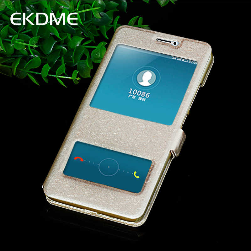 EKDME Leather Case For Meizu M6 M3 M2 Note Pro 7 M5C U10 M3S U20 M3mini A5 Cover For Meizu M6 Note Pro 7 With Stand Window Shell