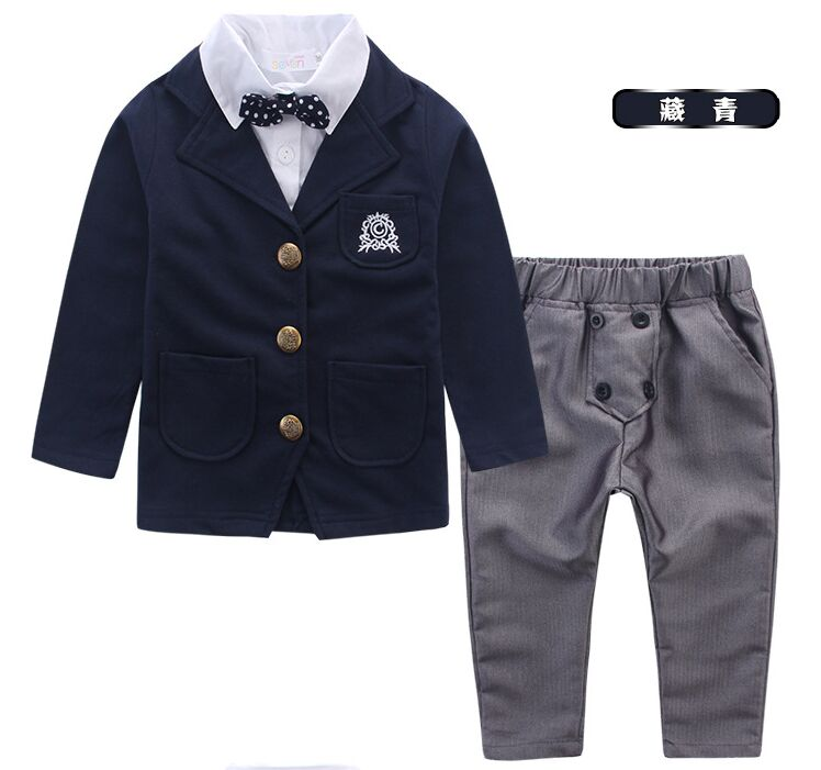 Preppy Style False Two Pieces Boy's Wedding Party Suit/Boy's Attrie+free Bow Tie 930