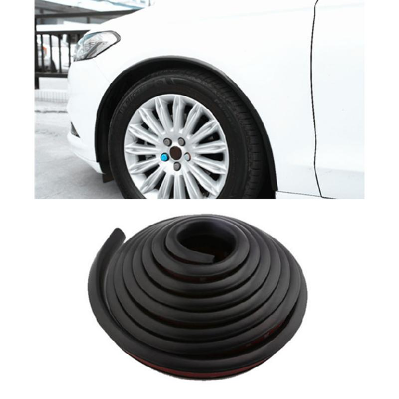 2pcs 1 5M Car Styling Bumper Strips Car Tires Eyebrow Wheel Arch Decorative Accessory Car Bumper