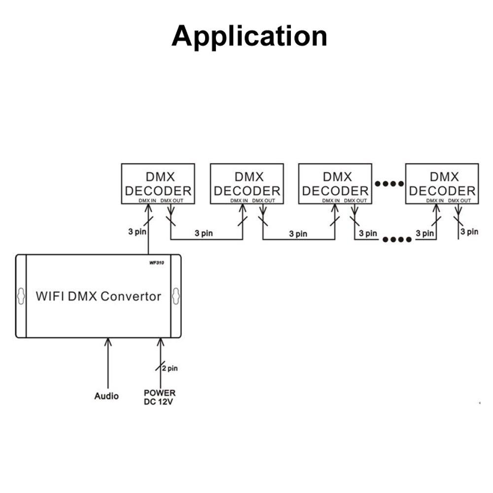 WF310 12 v Rgb Levou Controlador Tira