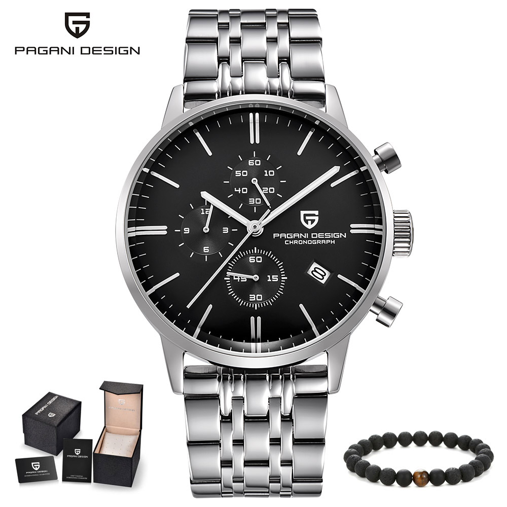 PAGANI Mens Watches Top Brand Luxury Date Quartz Watch Man Fashion Steel Business men Wristwatch Chronograph Waterproof Clock pagani design top luxury brand watches mens stainless steel band fashion business quartz watch wristwatch male