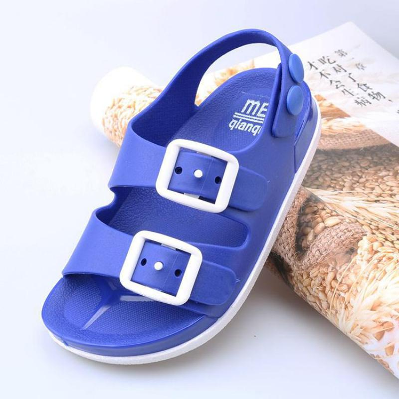 Boys Beach Sandals Summer Children Sandals Kids Shoes Baby Boys Slippers Flat House Flip Flop Non-slip Home Casual Shoes Outdoor