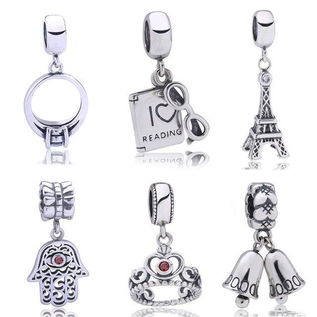 0a38cea1bb Parágrafo pulsera encantos beads fit DIY pulseira prata esterlina 925  flutuantes pingentes berloque jóias para mulheres