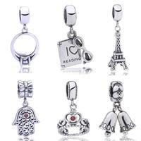 Para Pulsera Charms Beads Fit Pandora Bracelet Sterling Silver 925 Original Floating Pendants Berloque Jewelry For