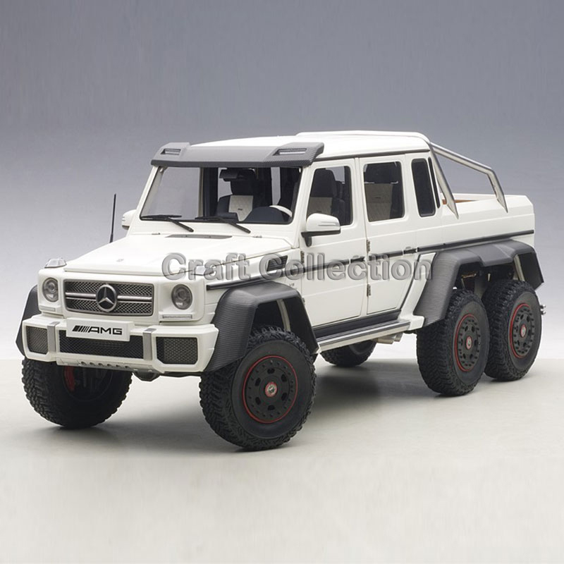 * White AUTOart 1:18 Diecast Car Model Benz G63 AMG 6x6 Off Road Vehicle Luxury Gifts Rare Miniature Modell Auto