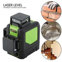 360 Degree 12 Lines Laser Level Meter Waterproof and Anti drop Red laser level Construction tool Level Measuring Tools