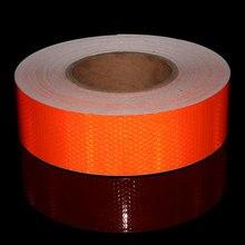 5cmx50m PVC Waterproof Reflective Safety Warning Conspicuity Tape Film Sticker yellow/orange 15cm x 5m high quality reflective orange belt auto super grade reflective sticker 15cm orange reflective warning tape