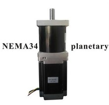 High Torque NEMA 34 Planetary Stepper Motor 126mm Motor Length NEMA34 Gear Stepper Gear Ratio 3:1 5:1 10:1 planetary gearbox ratio 10 1 with nema 23 120w brushless dc motor gear bldc motor