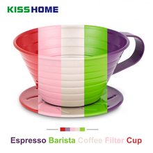 304 Stainless Steel Drip Coffee Filter Cup Barista Pour Over Maker Brewing Dripper Cake-cup Paper Cafe Tool