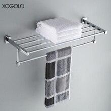 Xogolo медь хромированный настенные одного полотенца полка оптом и в розницу Краткая Стиль для ванной Аксессуары