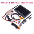 FPV Kit Combo System 5.8Ghz 600mw 48CH TS832 RC832 RC832H 7 inch LCD 1024 x 600 Monitor Fatshark Antenna for Quadcopter FPV