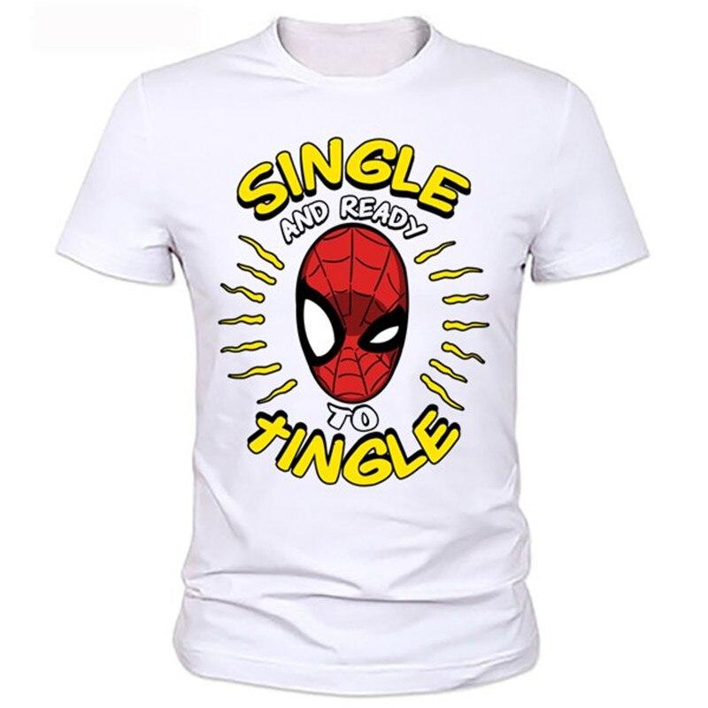 2016 Short sleeve cool spider-man t-shirt top super hero tees for men fashion designs round neck superman tshirts