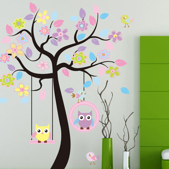 Creative Children Room Wall Sticker Home Decor Pvc Powderblue Wallpaper Decoration Stickers Funny Wall Rest Room