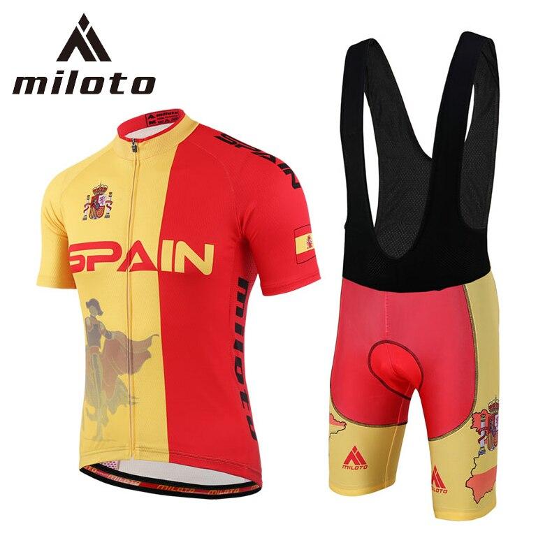 Prix pour Miloto Pro Cycling Jersey Shorts Ensembles pour Hommes Mâle Respirant Vtt Vélo Vêtements À Séchage Rapide Vélo Vêtements de Cyclisme Cyclisme Ensembles