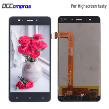 цена на For Highscreen Tasty LCD Display Touch Screen Digitizer Sensor Phone Parts For Highscreen Tasty Display Screen LCD Free Tools