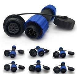 Conector impermeável sp16 tipo ip68 cabo conector plug & soquete macho e fêmea 2pin/3pin/4pin/5pin/6pin/7pin/9 pinos