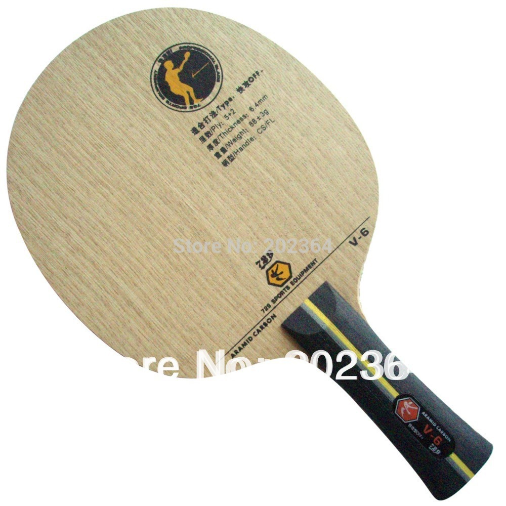 RITC 729 Friendship V-6 (V6, V 6) ARAMID Carbon OFF+ Table Tennis Blade for PingPong Racket