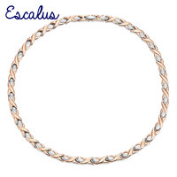 Ladies 2 Tone Magnetic Rose Gold Silver Necklace 34pcs Magnets Free Shipping Via Hong Kong Post