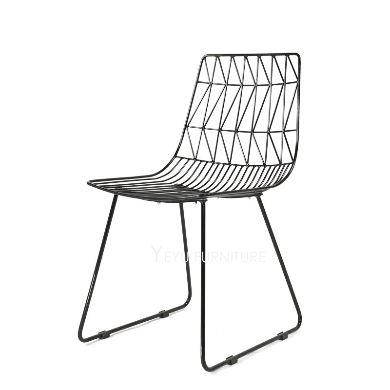 Modern Design Loft Metal Wire Chair, Steel Diamond Wire Chair, Loft Metal  Wire Padded Chair , Bertoia Wire Chair, Cafe Chair 1PC In Dining Chairs  From ...