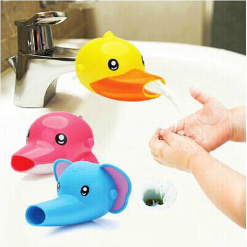 Silicone Cute Animal Faucet Extension Sink Tap Toddler Extender Wash For Kids Children Hand Washing Bathroom Kitchen Water